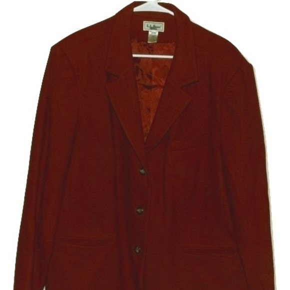 4441d14dc2b L.L. Bean Jackets   Blazers - L.L. Bean Womens Plus Size 22W Vintage Red  Blazer